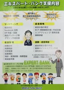 エキスパート・バンク チラシ(裏)